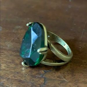 Chloe + Isabel Emerald colored ring, size 6